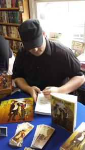 Book Signing Action Shot!